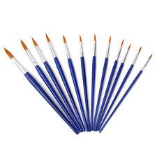 wholesale price Lot de 12pcs Pinceaux de Peinture Pointus Taille Assortie V3J9