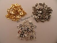 LOT 100 FERMOIRS BOUCLES D'OREILLES METAL ARGENTE OU DORE PERLES CREATION BIJOUX