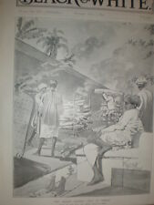 Hindu Burning Ghat Bombay Plague India 1897 old print Rene Bull