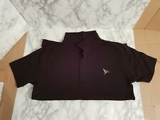 Negro Camisa Polo Para Hombre Henleys Leones De Plata-Talla M, en muy buena condición