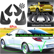 4Pcs Black EVA Plastic Car Mud Flaps Splash Guards Front&Rear Fender Universal