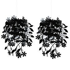 Par de Moderno Negro Flor Guirnalda Luz de Techo Lámpara Lámpara tonos Luces lámparas de araña