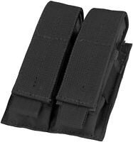 Tactical Molle Dual Pistol Magazine Pouch Holster Gun Mag Holder Glock S&W XD