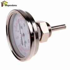 1/2 Stainless Steel Thermometer Dial Temperature Gauge For Moonshine Still Conde