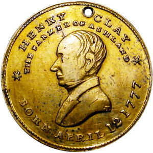 1844 Henry Clay Political Campaign Hard Times Token HT-808
