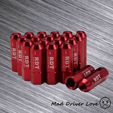 RED 60MM OPEN END 20PC ALUM. TUNER LUG NUT M12X1.5mm FOR HONDA CIVIC ACCORD CRX