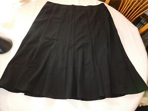 Larry Levine Woman Women's Ladies Long Skirt Size Variations Black Stretch NWT