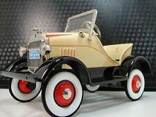 Classic Pedal Car 1920s Antique Ford A Hot T Rod Yellow Sport Midget Model