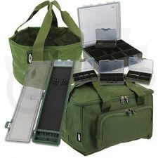 Carp Fishing 4+1 Tackle Box Set + Medium Carryall Stiff Rig Wallet & Bait Bowl