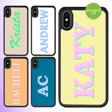 iPhone X 8 Plus 7 Plus 6 6s Case Personalised text name bumper cover gift