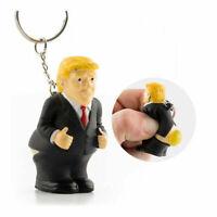 President Donald Trump Pooping Squeezable Keychain Gag Novelty Gag Joke Gift