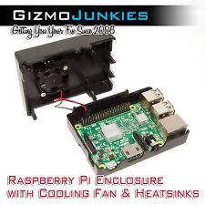 Raspberry Pi 3 Enclosure with Fan & Heatsinks - Overclock w/ Confidence (B+/2B)