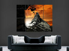 ROCK CLIMBING MOUNTAINS SUNSET  GIANT WALL POSTER  PICTURE PRINT LARGE HUGE
