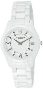 Armani Ceramica Quartz Movement White Dial Men's Watches AR1443