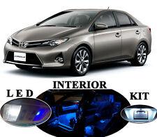 LED for Toyota Corolla Ultra Blue interior + License plate + Reverse (10 pcs).