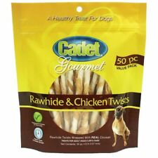 Cadet Premium Gourmet Rawhide and Chicken Twists Treats 50 pack