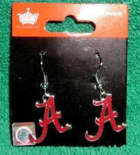 "Alabama Crimson Tide Dangle Logo Earrings Crafted of stainless steel NIP 1.5"""