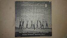 JEROME ROBINES BALLET & PHILARMONIC ORCHESTRA  & EL AL ADV PROGRAM 1959 ISRAEL