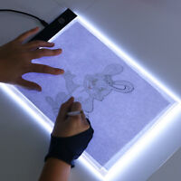 A5 LED Art Stencil Board Light Box USB Tracing Drawing Table Adjustable Base Pad