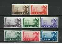 1941 LIBYA Italian Colony. Complete series of 8 mint stamps*.         (7034)