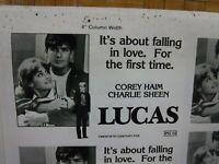 LUCAS Movie Mini Ad Sheet Vintage Advertising Poster Film Charlie Sheen