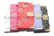 For Samsung Galaxy / Note Bling Diamond Sparkle Book Flip Case Cover Card Holder