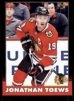 2020-21 UD O-Pee-Chee Retro Black Border #191 Jonathan Toews /100
