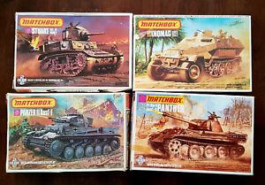 4 X Matchbox WW2 Military Vehicles 1/76 scale