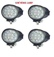 4x 42W LED Arbeitsscheinwerfer Offroad Scheinwerfer Rund Weiß für Jeep SUV LKW