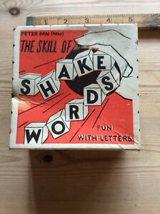 Vintage Shake Words Game 1950s Peter Pan Toys Complete Boxed