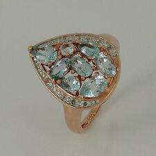 Echte Edelstein-Ringe aus Sterlingsilber mit Tropfen für Damen
