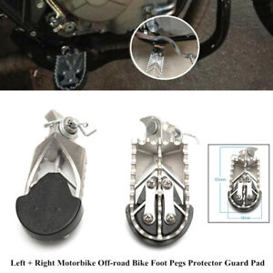2xMotorbike Off-road Bike Foot Pegs Protector Guard Pad Stainles Forefoot Pedals