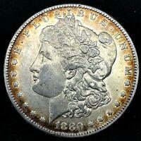 1880-O Morgan Silver Dollar - Choice Uncirculated, Toned, Collectible Coin.