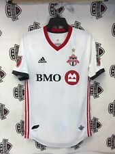Toronto FC 2018 Away White Authentic On Field Jersey  Champions GOLD STAR Large