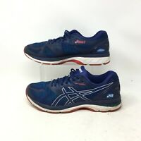 Asics Gel Nimbus 20 Sneakers Running Shoes Low Top Lace Up Fiber Blue Mens 11