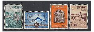 Ceylan - 1951,85c,2r,5r & 10r (4 X Haut Valeurs) - D'Occasion - Sg 427/30
