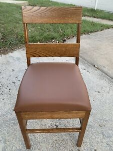 NEW organic Real Oak WOOD Cowhide  LEATHER CHAIR LODGE MODERN