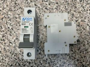 CED/AXIOM 32 Amp CUB32SP B32 32A 60898 MCB - BRAND NEW