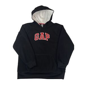 GAP Kids Black Pullover Hoodie Big Front Logo Kids Size 2XL (14-16)XXL