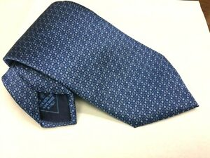 BRIONI Mens Tie Necktie NEW Blue geometric MADE in ITALY 3 5/8 wide 60 long $200