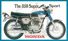 Honda 350 SS blue Fridge Magnet