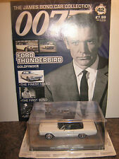 James bond car collection Issue 42* FORD THUNDERBIRD & Magazine ,GOLDFINGER.