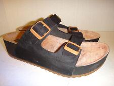 Boaonda 'Cherry Tamanco' Black Leather Sandals - Brazil - Women's Size 7 (LN)