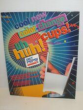 PEPSI COLA DIET PEPSI COLOR CHANGE CUP RETAIL DISPLAY SIGN 1991 UH HUH!