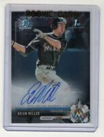 Brian Miller 2017 Bowman Chrome Draft Autograph Card #CDA-BMI (Miami Marlins)