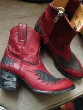 Leather ankle boots by  MEXICANA old gringo eagle biker free people  5uk