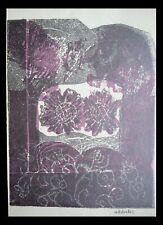 HAP Grieshaber 1909 Rot / Holzschnitt, handsigniert / Silberdistel / 1974