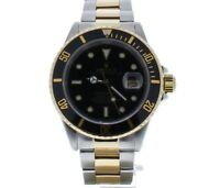 Rolex Submariner Steel-and-18k-gold 16613 Black Dial Mens 40-mm Automatic Watch