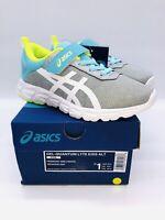 ASICS Big Kid's Gel-Quantum Lyte PS Running Shoes Piedmont Grey/  White US 1