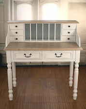 Ex-Display Desk Side Table French Provincial Antiqued Style 8 Drawers Unit